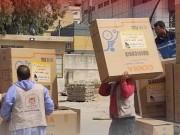وزارة التنمية تتسلم معدات وأجهزة طبية مقدمة من القائد دحلان